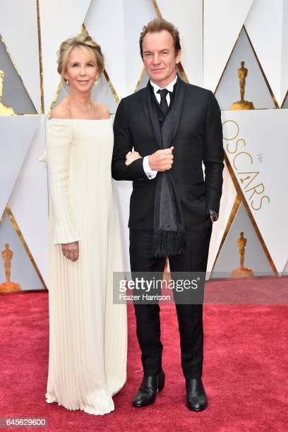 Producer Trudie Styler and musician Sting attend the 89th Annual Academy Awards at Hollywood Highland Center on February 26 2017 in Hollywood...
