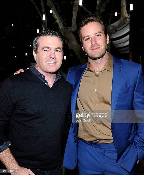 Producer Tucker Tooley and Actor Armie Hammer attend Feed Supper with Lauren Bush Lauren X Nathan Turner at The Westfield on October 3 2015 in...