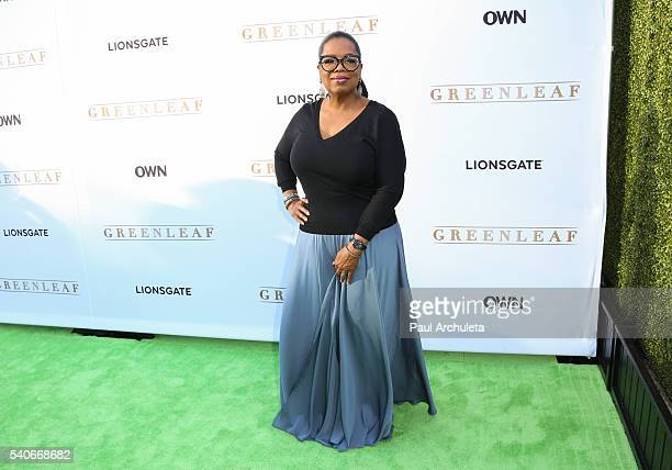Producer / TV Personality Oprah Winfrey attends the premiere of OWN's 'Greenleaf' at The Lot on June 15 2016 in West Hollywood California