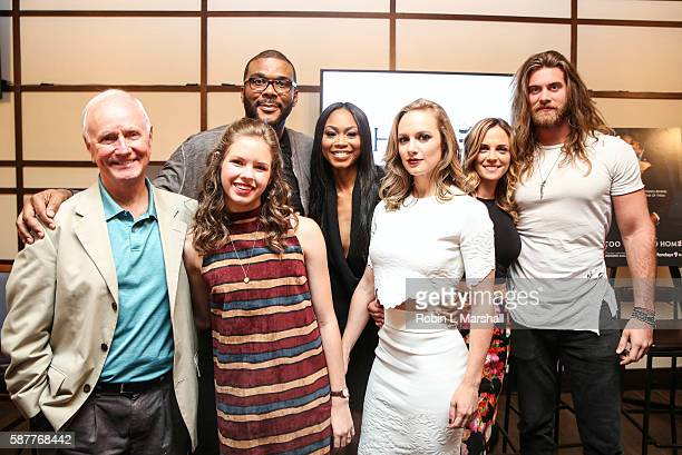 Producer Tyler Perry and cast members Danielle Savre Brock O'Hurn Kelly Sullivan Ashley LoveMills Annie Thrash and Alpha Everette Trivette attend...