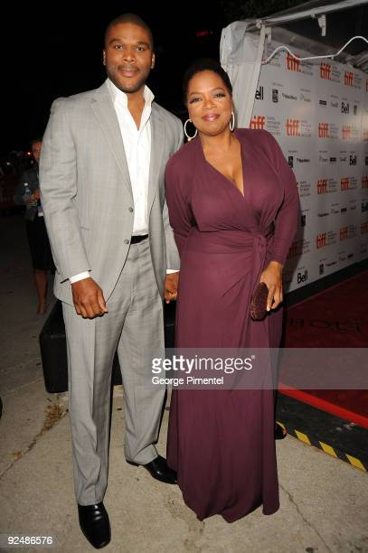 Producer Tyler Perry and executive producer Oprah Winfrey attend the Precious Based On The Novel Push By Sapphire premiere at the Roy Thomson Hall...