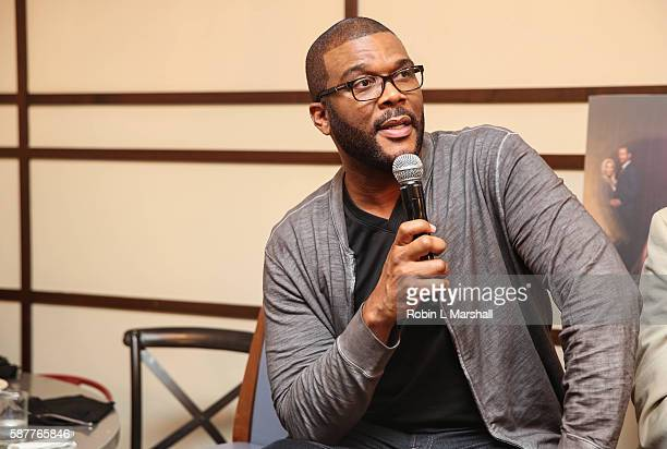 Producer Tyler Perry attends Atlanta Press Lunch for TLC's First Scripted Series Too Close to Home at The W Hotel Midtown on August 9 2016 in Atlanta...