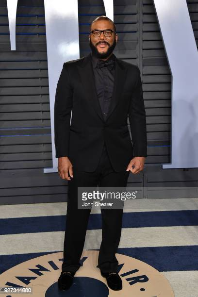 Producer Tyler Perry attends the 2018 Vanity Fair Oscar Party hosted by Radhika Jones at Wallis Annenberg Center for the Performing Arts on March 4...
