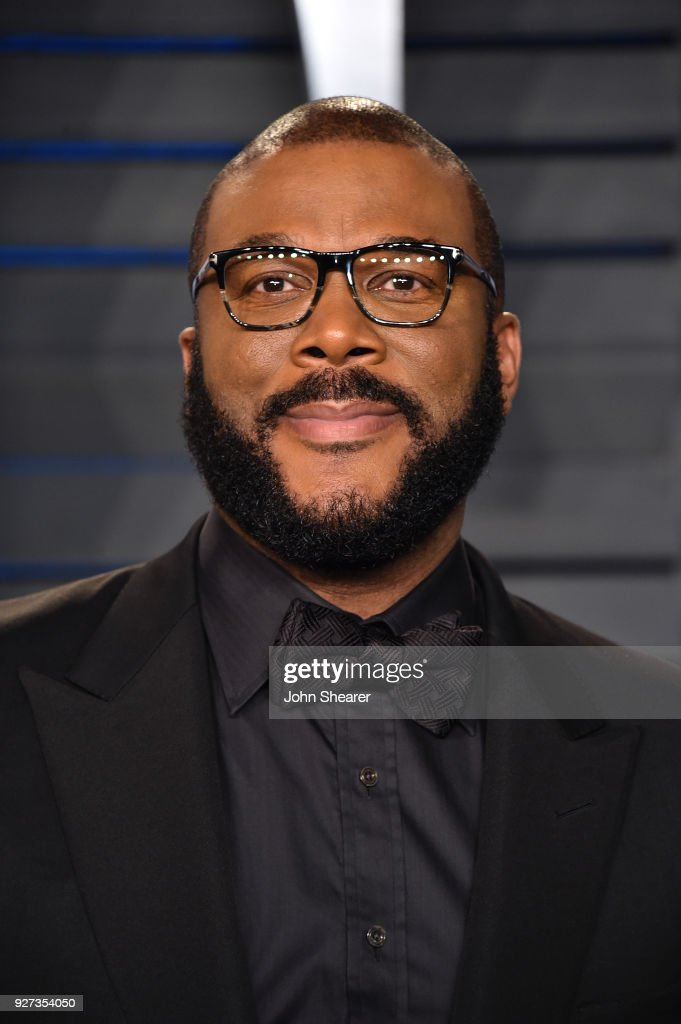Producer Tyler Perry attends the 2018 Vanity Fair Oscar Party hosted by Radhika Jones at Wallis Annenberg Center for the Performing Arts on March 4, 2018 in Beverly Hills, California.