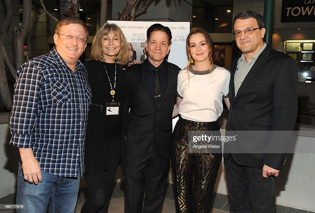 Producer Uri Singer, Jere Rae-Mansfield, director Frank Whaley, actress Leighton Meester and producer Fabio Golombek attend the Premiere of Monterey Media's 'Like Sunday, Like Rain' at Laemmle's Town Center 5 on March 18, 2015 in Encino, California.
