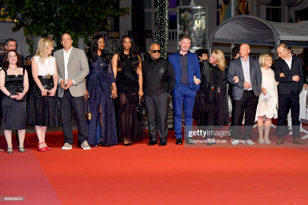 Producer Vanessa Tovell, Lisa Chinn, producer Simon Chinn, producer Pat Houston, Rayah Houston, director Kevin Macdonald, producer Lisa Erspamer, producer Jonathan Chinn, producer Nicole David and editor Sam Rice Edwards attend the screening of 'Whitney' during the 71st annual Cannes Film Festival at Palais des Festivals on May 16, 2018 in Cannes, France.