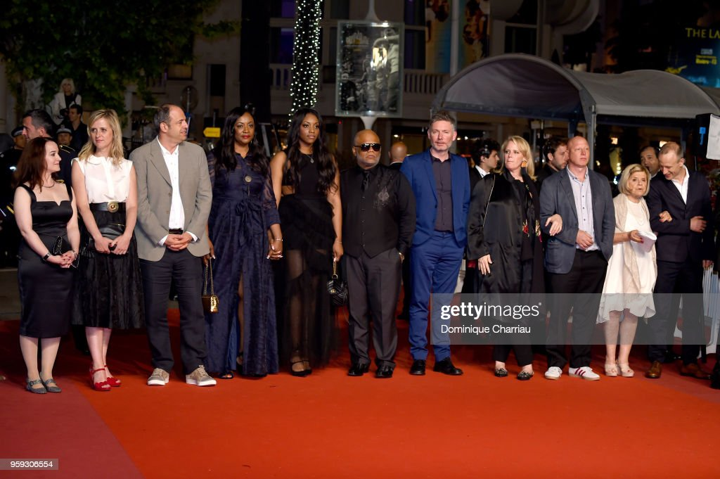 Producer Vanessa Tovell, Lisa Chinn, producer Simon Chinn, producer Pat Houston, Rayah Houston, Ulysses Carter, director Kevin Macdonald, producer Lisa Erspamer, producer Jonathan Chinn, producer Nicole David and editor Sam Rice Edwards attend the screening of 'Whitney' during the 71st annual Cannes Film Festival at Palais des Festivals on May 16, 2018 in Cannes, France.