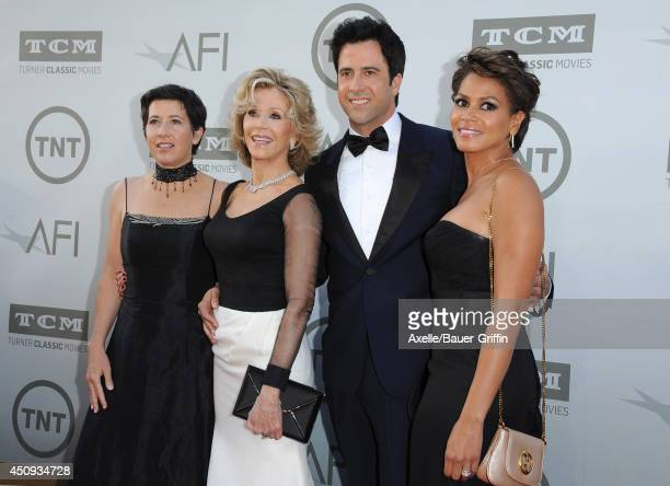 Producer Vanessa Vadim actress Jane Fonda actor Troy Garity and Simone Garity arrive at the 2014 AFI Life Achievement Award Gala Tribute at Dolby...