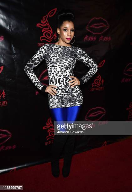 Producer Veronica Nichols arrives at the Los Angeles premiere of 'KISS KISS' at the Ahrya Fine Arts Theater by Laemmle on March 05 2019 in Beverly...
