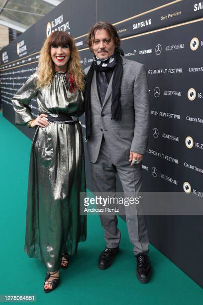 Producer Victoria Mary Clarke and Johnny Depp arrive for the Crock of Gold A few Rounds with Shane McGowan premiere during the 16th Zurich Film...