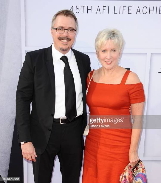 Producer Vince Gilligan and Holly Rice attend the AFI Life Achievement Award gala at Dolby Theatre on June 8 2017 in Hollywood California