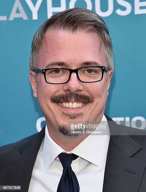 Producer Vince Gilligan attends The Geffen Playhouse's Backstage at the Geffen Gala at The Geffen Playhouse on March 22 2015 in Los Angeles California
