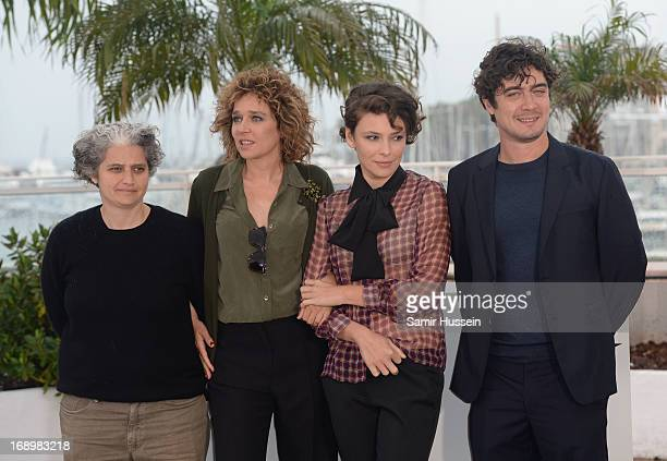 Producer Viola Prestieri director Valeria Golino actress Jasmine Trinca and producer Riccardo Scamarcio attend the 'Miele' Photocall during The 66th...