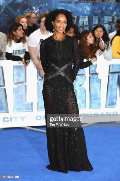Producer Virginie Besson attends the 'Valerian And The City Of A Thousand Planets' European Premiere at Cineworld Leicester Square on July 24 2017 in...