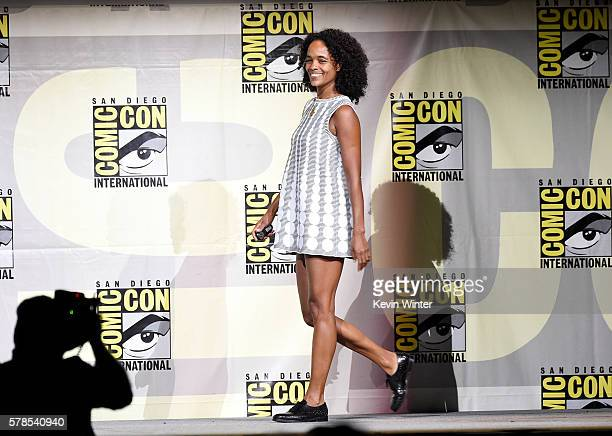 Producer Virginie BessonSilla attends the 'Valerian And The City Of A Thousand Planets' panel during ComicCon International 2016 at San Diego...