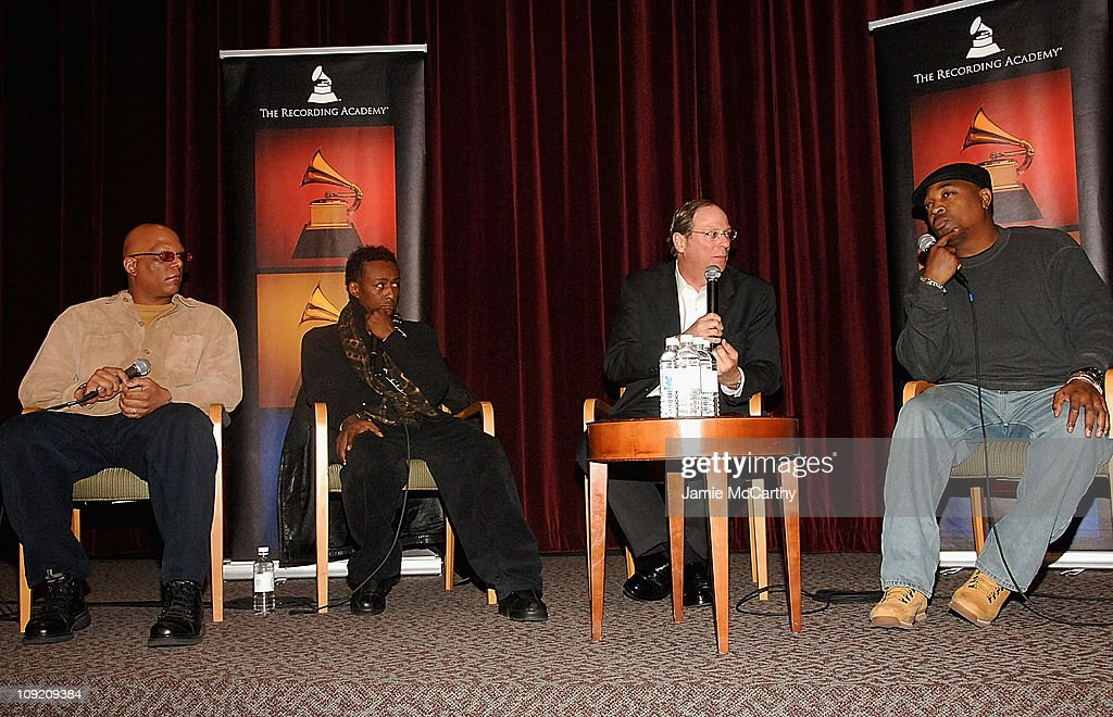 Producer Walter Leaphart, Professor Griff of Public Enemy, Charlie Feldman and Chuck D of Public Enemy attend the Recording Academy Private Industry Screening of 'Public Enemy: Welcome to the Terrordome' on December 21, 2007 at the Directors Guild of Ameri