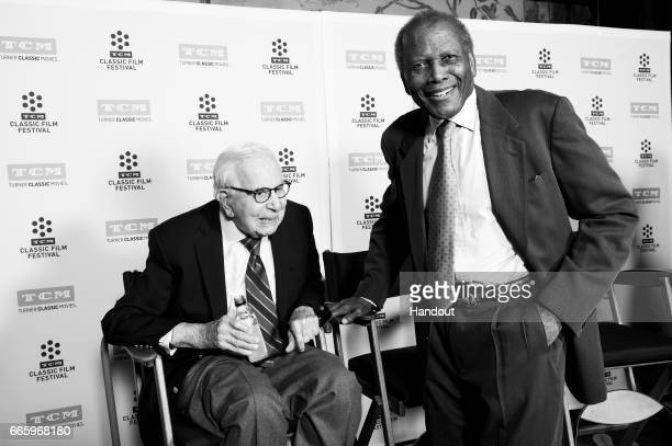 Producer Walter Mirisch and actor Sidney Poitier attend the 50th anniversary screening of 'In the Heat of the Night' during the 2017 TCM Classic Film...
