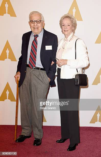 Producer Walter Mirisch and guest attend the 88th Annual Academy Awards nominee luncheon on February 8 2016 in Beverly Hills California