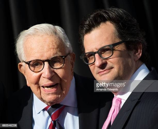 Producer Walter Mirisch and TCM host Ben Mankiewicz arrive at the 2017 TCM Classic Film Festival Opening Night Gala 50th Anniversary Screening of 'In...