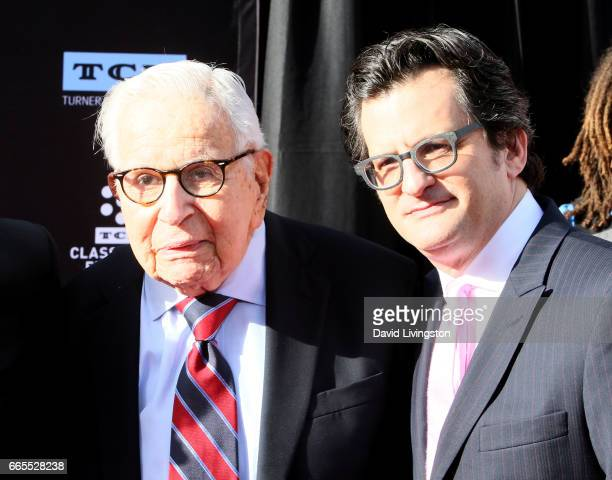 Producer Walter Mirisch and television personality Ben Mankiewicz attend the 2017 TCM Classic Film Festival's Opening Night Gala and 50th Anniversary...