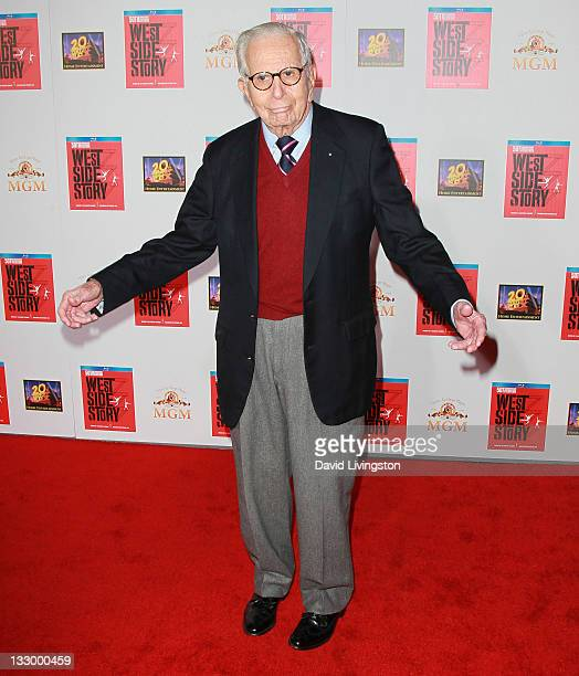 Producer Walter Mirisch attends the premiere for the release of the 'West Side Story' 50th anniversary edition Bluray at Grauman's Chinese Theatre on...
