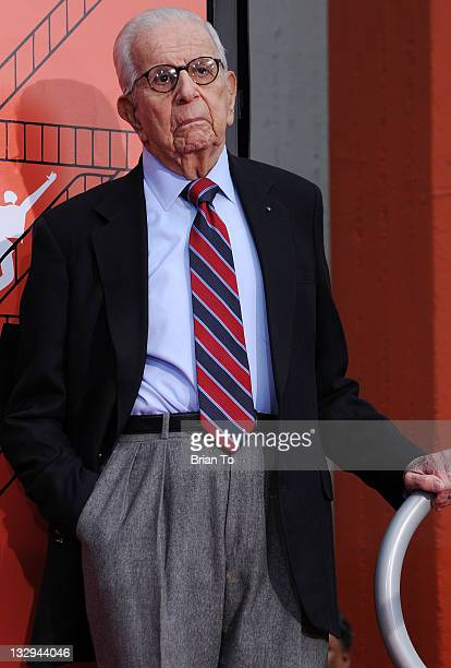 Producer Walter Mirisch attends 'West Side Story 50th anniversary' hand footprint ceremony at Grauman's Chinese Theatre at Grauman's Chinese Theatre...