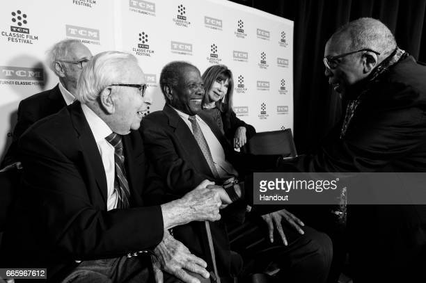 Producer Walter Mirisch director Norman Jewison actor Sidney Poitier actor Lee Grant and producer Quincy Jones attend the 50th anniversary screening...
