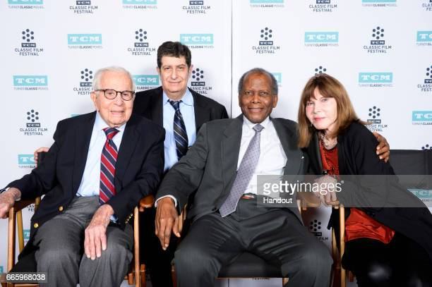 Producer Walter Mirisch Larry Mirisch actor Sidney Poitier and actor Lee Grant attend the 50th anniversary screening of 'In the Heat of the Night'...