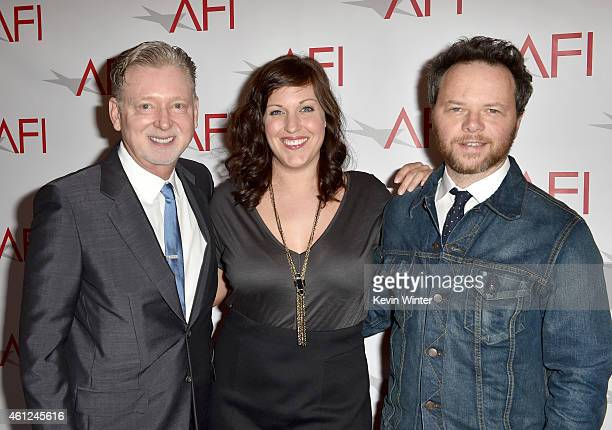 Producer Warren Littlefield actress Allison Tolman and producer Noah Hawley attend the 15th Annual AFI Awards at Four Seasons Hotel Los Angeles at...