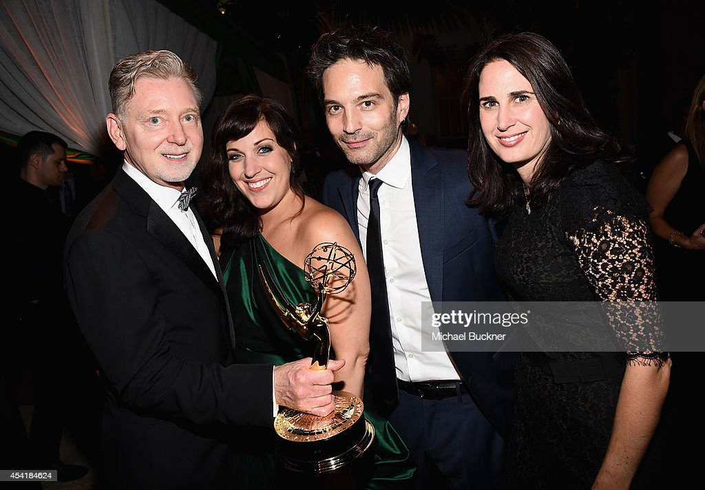 Producer Warren Littlefield, actress Allison Tolman, composer Jeff Russo and guest attend the FOX, 20th Century FOX Television, FX Networks and National Geographic Channel's 2014 Emmy Award Nominee Celebration at Vibiana on August 25, 2014 in Los Angeles, California.