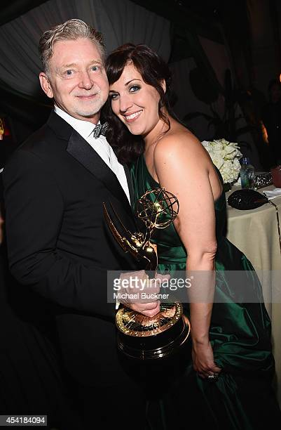 Producer Warren Littlefield and actress Allison Tolman attend the FOX 20th Century FOX Television FX Networks and National Geographic Channel's 2014...
