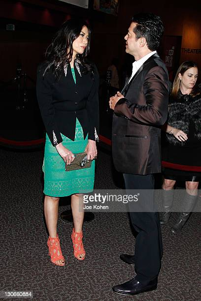 Producer Wendi Murdoch and actor Russell Wong attend the 'Snow Flower And The Secret Fan' DVD And BluRay Launch at DGA Theater on October 27 2011 in...