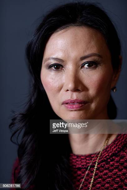 Producer Wendi Murdoch from the film Sky Ladder The Art of Cai GuoQiang poses for a portrait during the WireImage Portrait Studio hosted by Eddie...