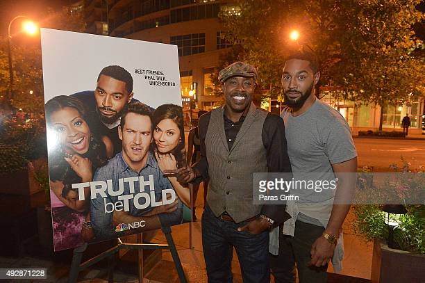 Producer Will Packer and actor Tone Bell attend Truth Be Told private dinner at Cucina Asellina on October 15 2015 in Atlanta Georgia