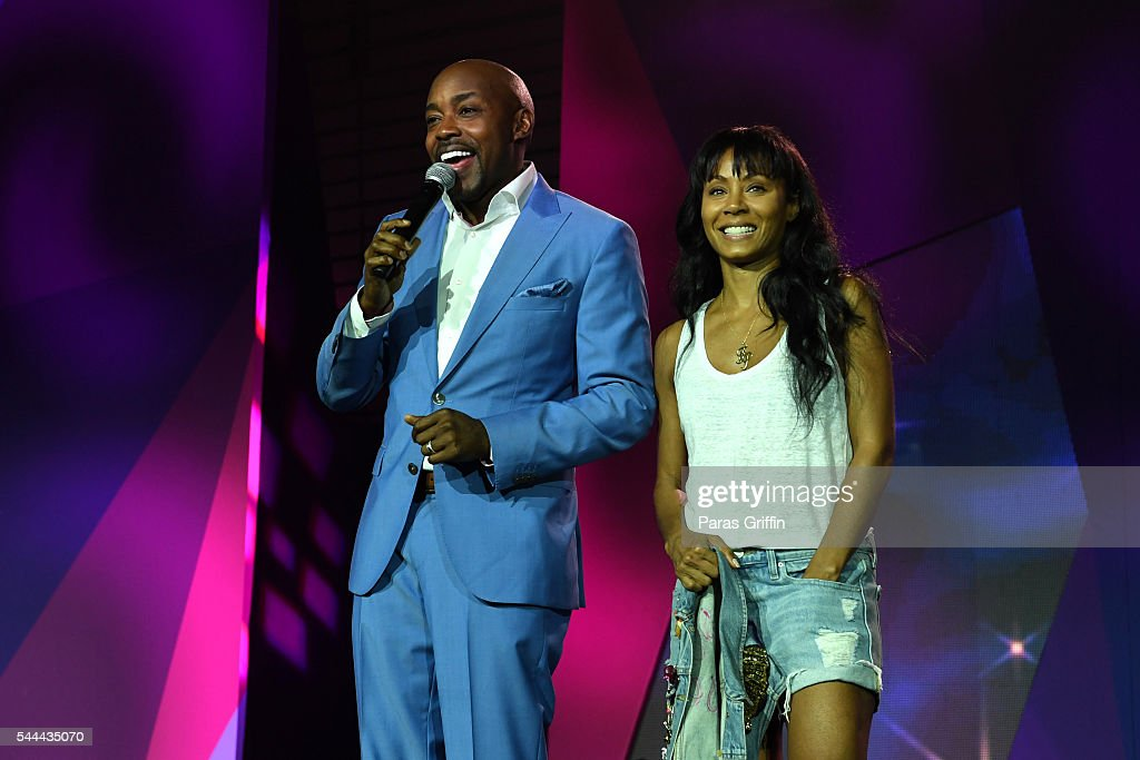 Producer Will Packer and actress Jada Pinkett Smith onstage at the 2016 ESSENCE Festival Presented By Coca-Cola at Ernest N. Morial Convention Center on July 3, 2016 in New Orleans, Louisiana.