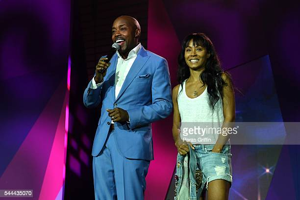 Producer Will Packer and actress Jada Pinkett Smith onstage at the 2016 ESSENCE Festival Presented By CocaCola at Ernest N Morial Convention Center...
