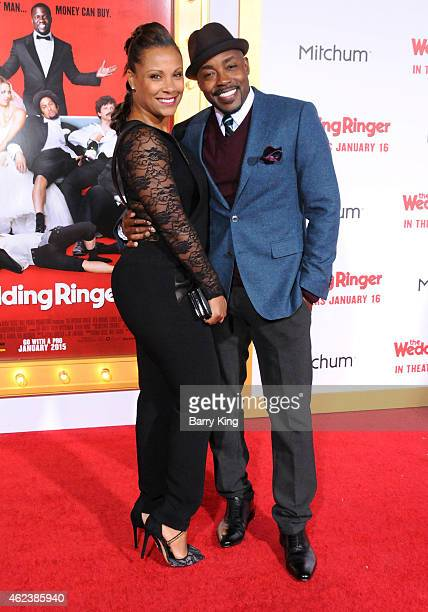 Producer Will Packer and Heather Hayslett attend the premiere of 'The Wedding Ringer' at TCL Chinese Theatre on January 6 2015 in Hollywood California