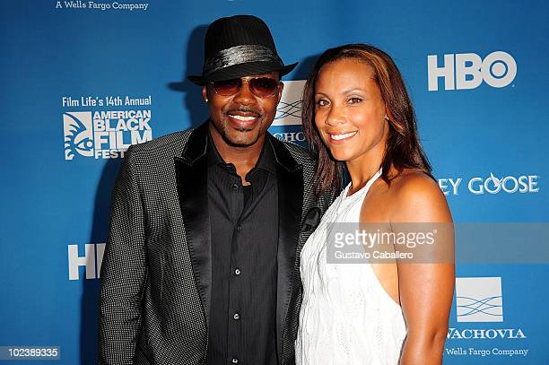 Producer Will Packer and Heather Hayslett attends the American Black Film Festival's opening night screening of Screen Gems Takers at Colony Theater...