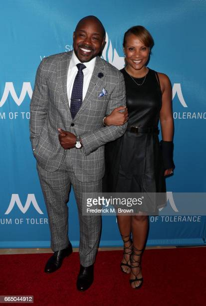 Producer Will Packer and Heather Hayslett attend The Simon Wiesenthal Center's 2017 National Tribute Dinner at The Beverly Hilton Hotel on April 5...