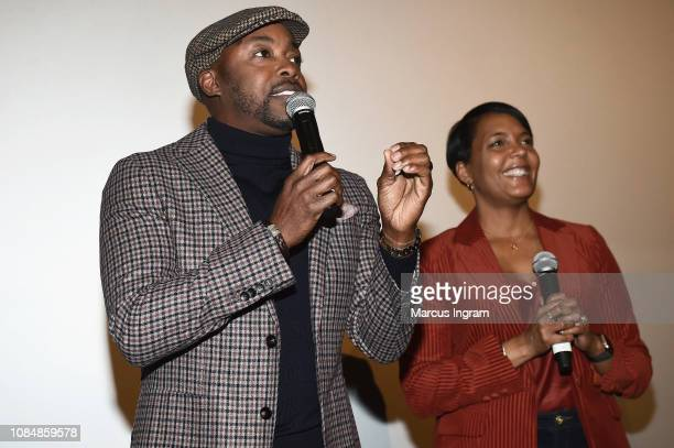 Producer Will Packer and Mayor of Atlanta Keisha Lance Bottoms attend a special screening of 'What Men Want' at Regal Atlantic Station on January 18...