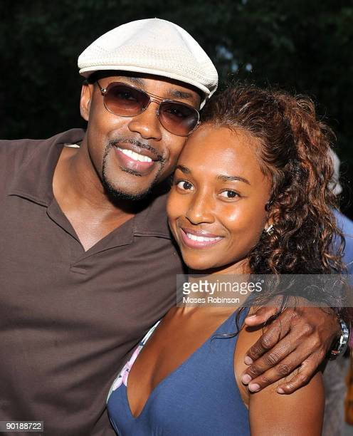 Producer Will Packer and recording artist Rozonda Chilli Thomas attend Teri J Vaughn's birthday party at a Private Residence on August 29 2009 in...