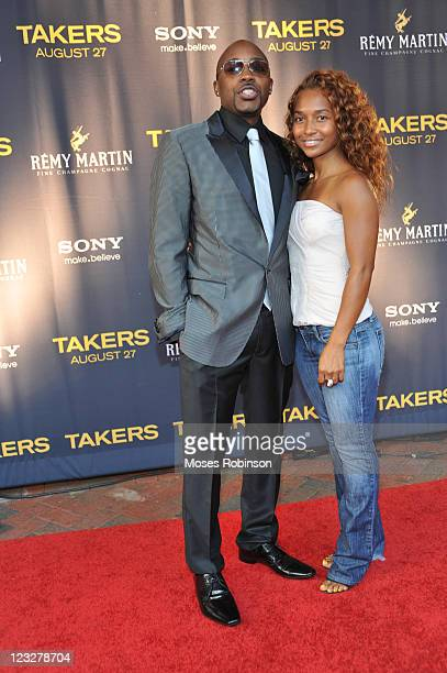 Producer Will Packer and Rozonda Chilli Thomas attend the Takers premiere at Regal Atlantic Station on August 24 2010 in Atlanta Georgia
