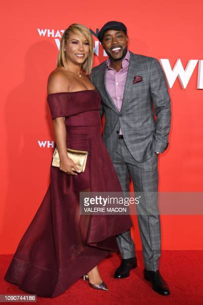 Producer Will Packer arrives with his wife Heather Hayslett for the US premiere of What Men Want at the Regency Village theatre on January 28 2019 in...