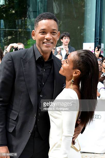 Producer Will Smith and actress Jada Pinkett Smith attend the Free Angela All Political Prisoners premiere during the 2012 Toronto International Film...