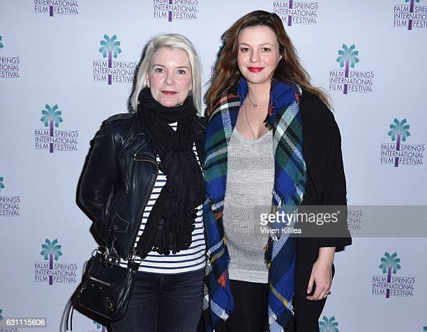 Producer Wren Arthur and actress Amber Tamblyn attend a screening of 'Paint It BlackÓ at the 28th Annual Palm Springs International Film Festival on...
