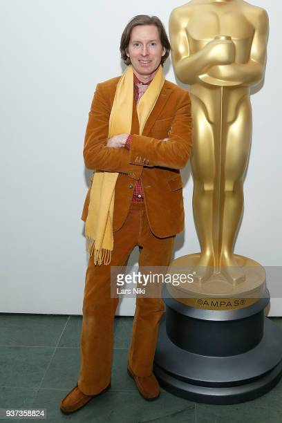 Producer writer and director Wes Anderson attends The Academy of Motion Picture Arts Sciences Official Academy Screening of Isle of Dogs at the MOMA...
