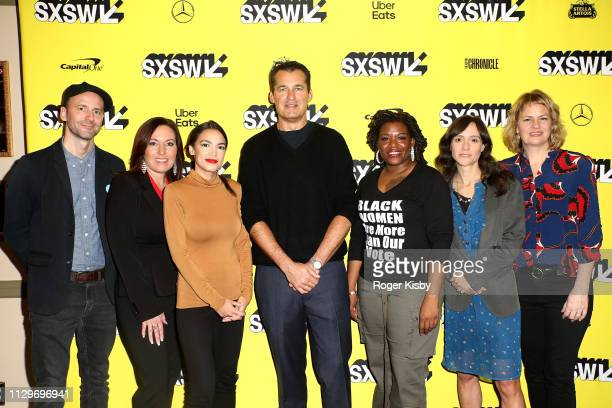 Producer Writer and Editor Robin Blotnick Amy Vilela Congresswoman Alexandria OcasioCortez Netflix Vice President of Original Films Scott Stuber Cori...