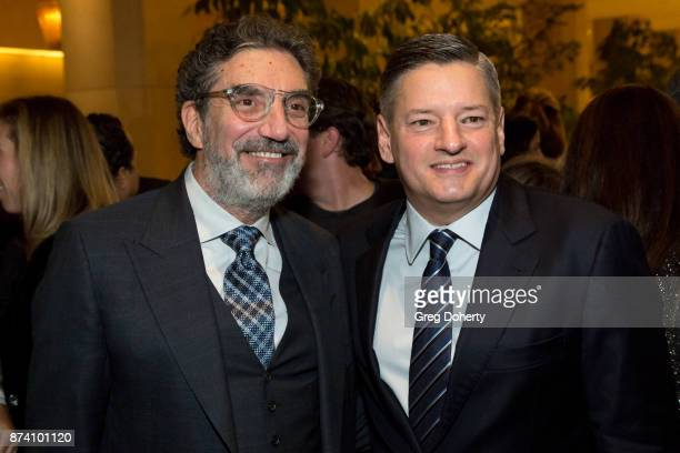 Producer / Writer Chuck Lorre and Ted Sarandos Chief Content Officer for Netflix attend the Saban Community Clinic's 50th Anniversary Dinner Gala at...