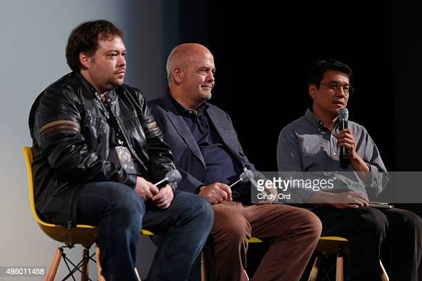 Producer writer Dax Phelan Producer Jon Anderson and Producer James Su of Jasmine are interviewed on stage during QA session during Day Seven of 18th...