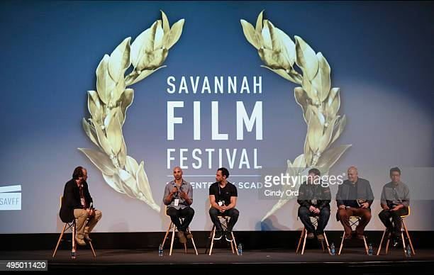 Producer writer Joshua Grier Director Mike Grier of Dust Producer writer Dax Phelan Producer Jon Anderson and Producer James Su of Jasmine are...